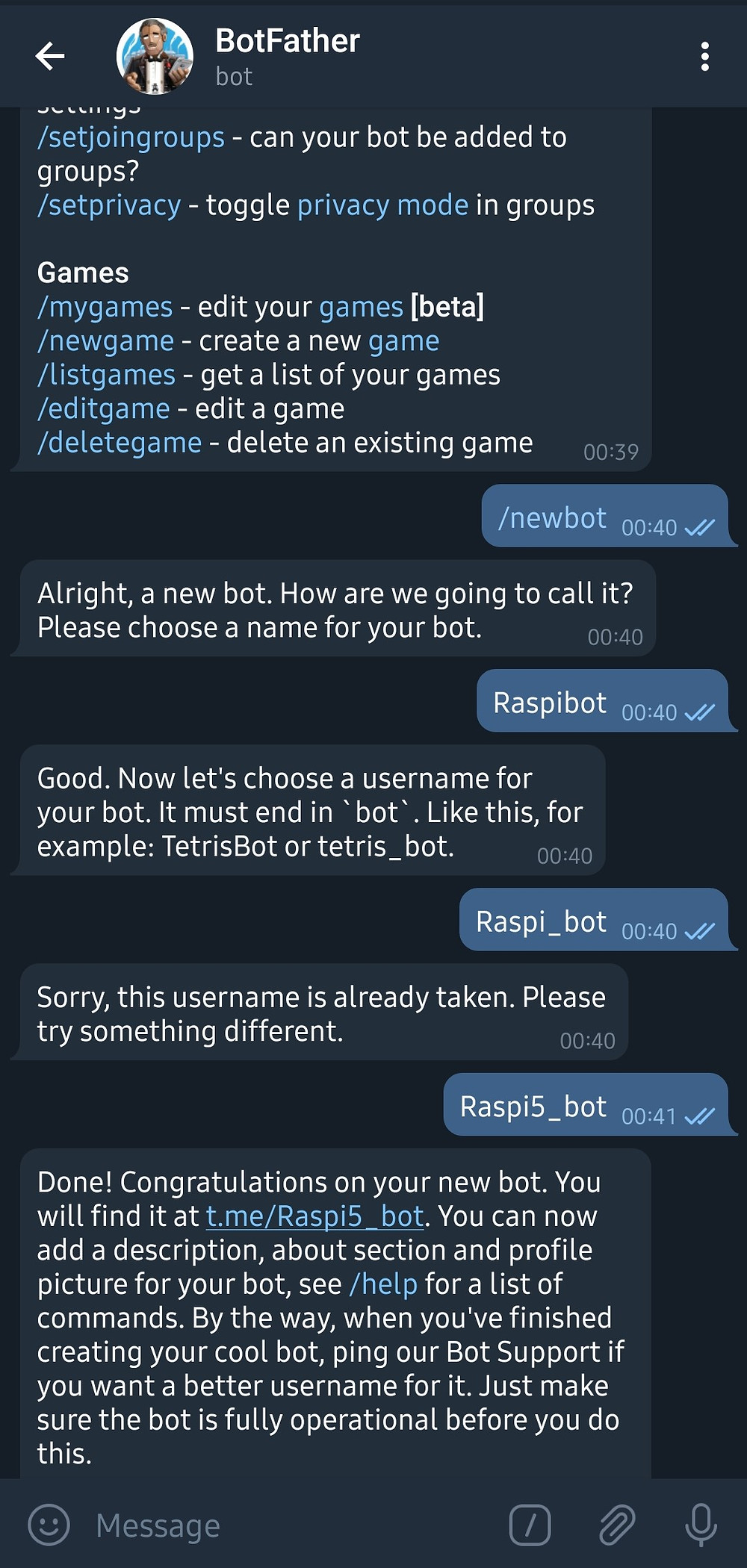 Image of Chat Bot Configuration