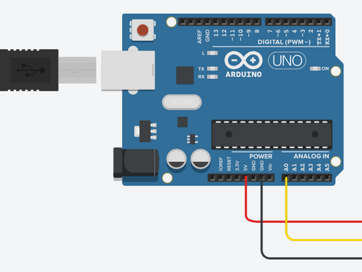 Interfacing Temperature Sensor with Arduino using TinkerCAD