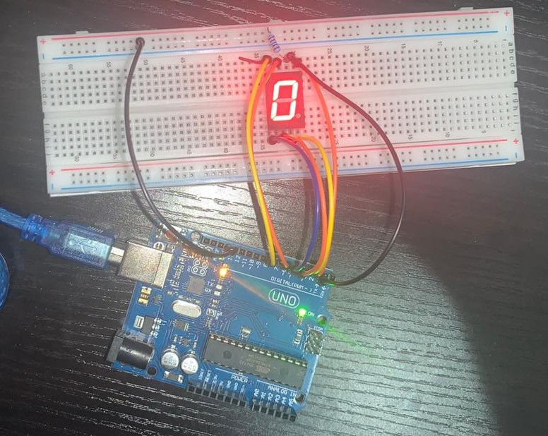 Circuit showing one of the outputs after code interfacing