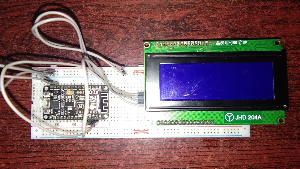 LCD interfaced with NodeMCU