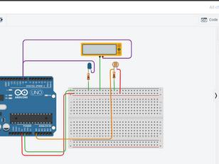Light Intensity Measurement using LDR sensor and Arduino on TinkerCAD