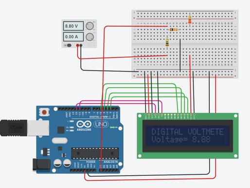 Building a Digital Voltmeter using Arduino UNO.