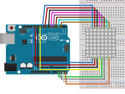 Interfacing the Arduino with an 8*8 LED Matrix