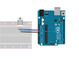 Measuring Temperature & Humidity using DHT11 Sensor and Arduino Uno