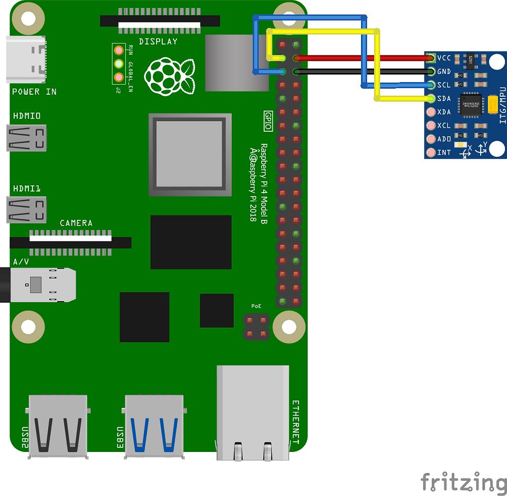 Interfacing an MPU6050 IMU Sensor with Raspberry Pi