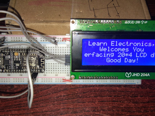 Interfacing 20 X 4 LCD Display with NodeMCu