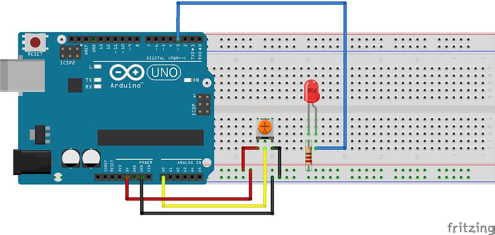 Circuit diagram using Arduino