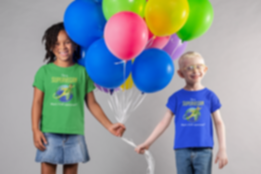 mockup-of-two-kids-wearing-t-shirts-and-