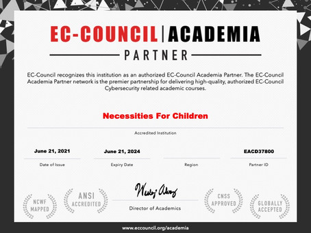 Necessities for Children becomes an Academia Partner with EC-Council
