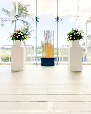 Wedding Ceremony Pillars - Oahu Wedding