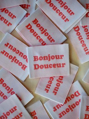 """Etiquette """"BONJOUR"""""""