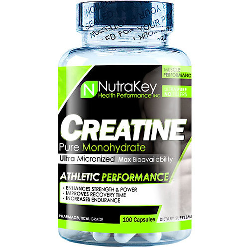 Nutrakey Creatine Monohydrate 100 Capsules