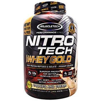 MUSCLETECH PERFORMANCE SERIES NITRO TECH 100% WHEY GOLD 5.53lb