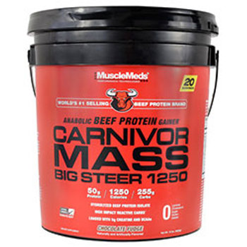 MUSCLE MEDS CARNIVOR MASS BIG STEER 1250 15 lb (6820g)
