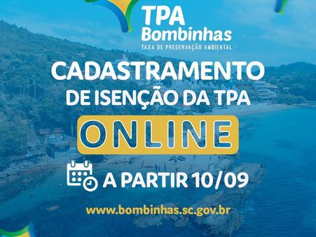 Bombinhas abre prazo de pedidos de isenção da TPA para a temporada 2021/2020