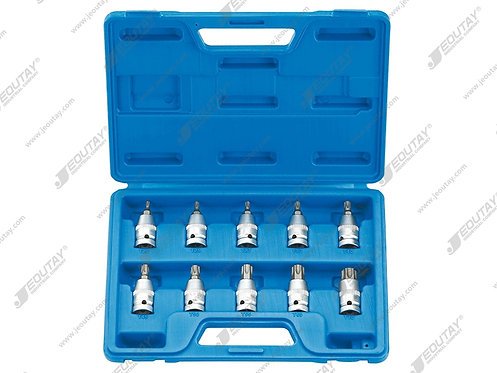 "2057 10PCS 1/2 ""DR TORX BIT SOCKET SET"