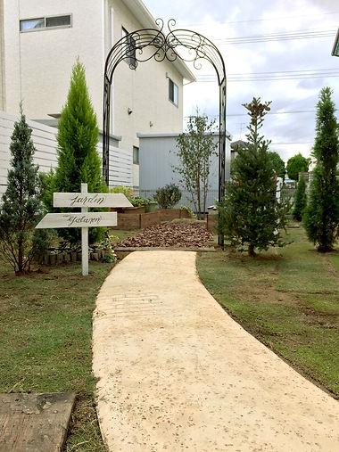 copain de garden コパンデガーデン 福島市 スタンプコンクリート 芝