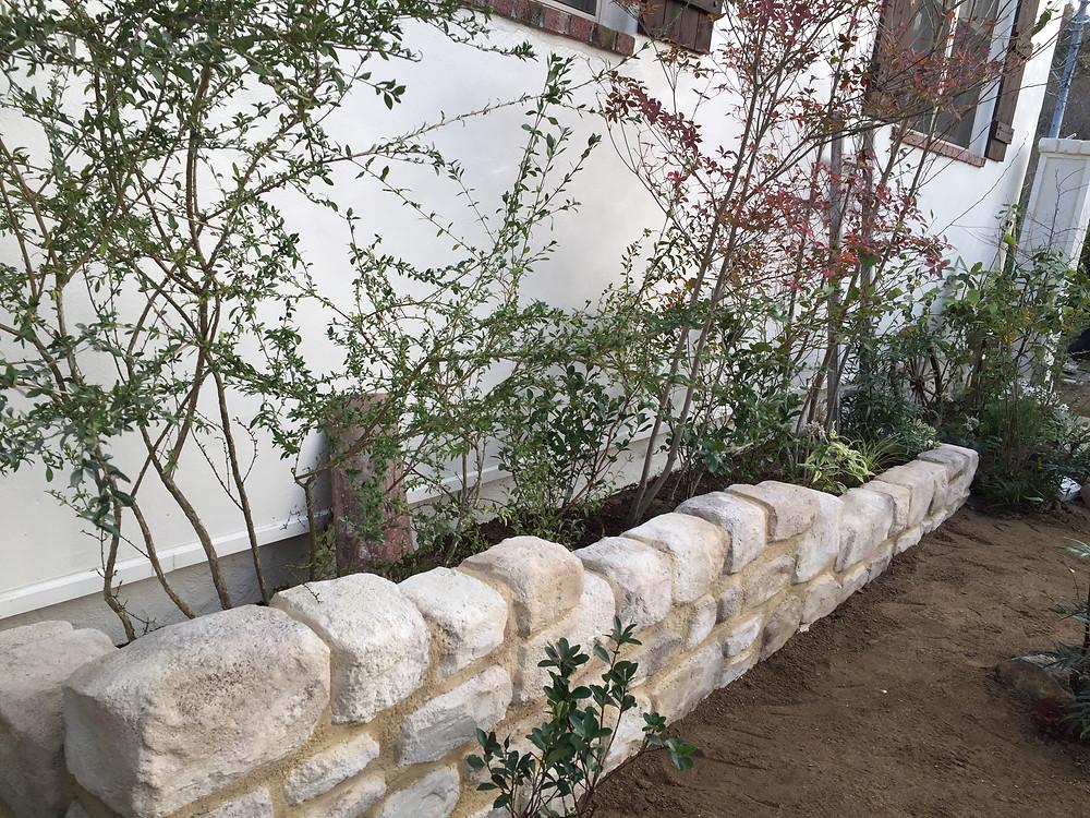 モルタル造形花壇 花壇 レイズドベット コパンデガーデン
