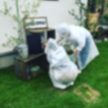copain de garden コパンデガーデン 福島市 ナチュラル アンティーク 枕木 芝 雑貨