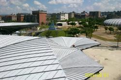 屋面鈦鋅板完工