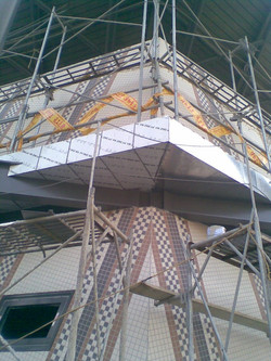 倒吊天花板鈦鋅板安裝