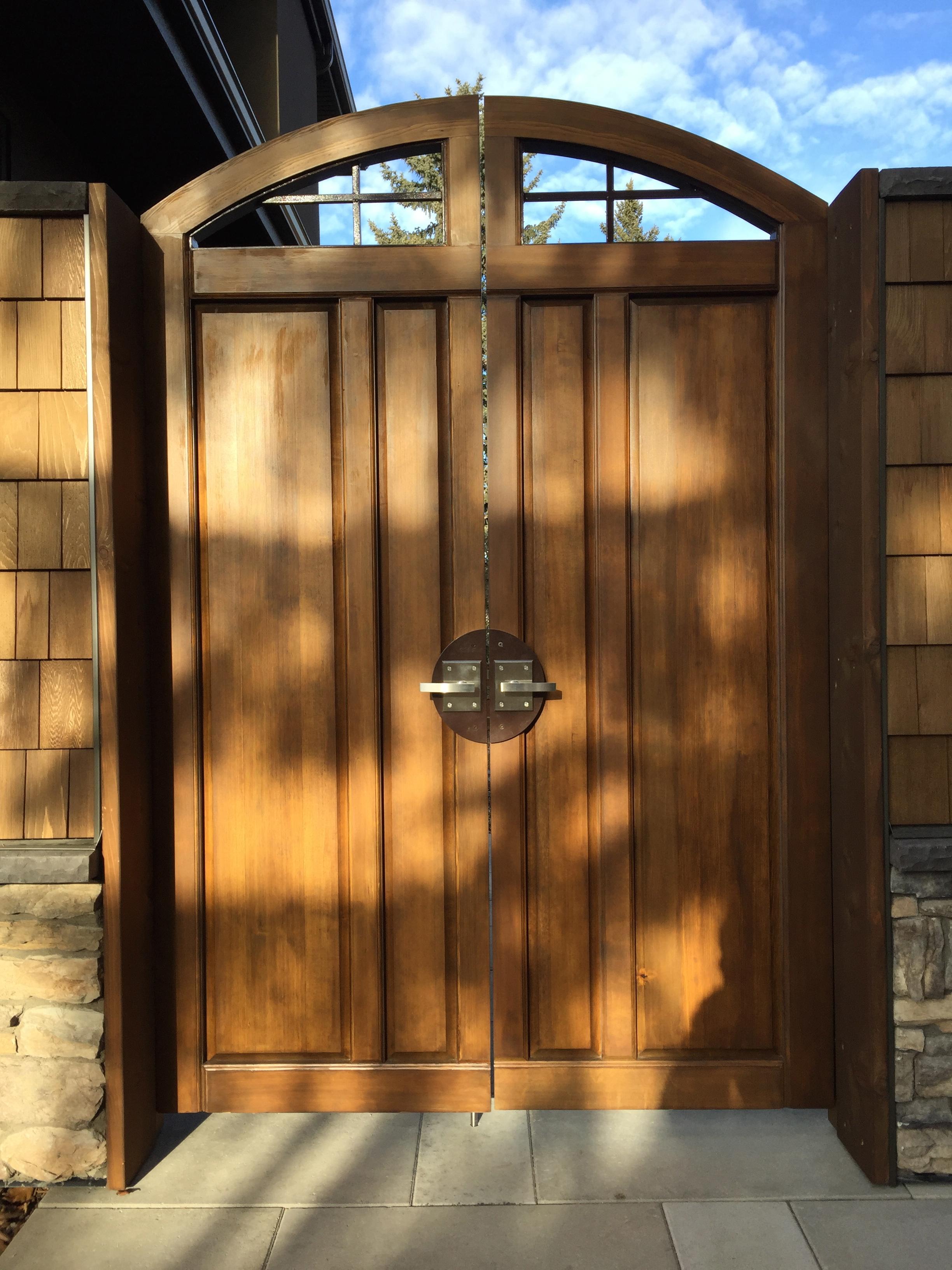 Beautiful Fir wood gate and metal hardware