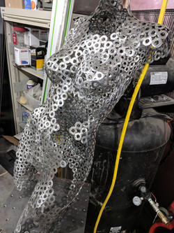 Steel female torso
