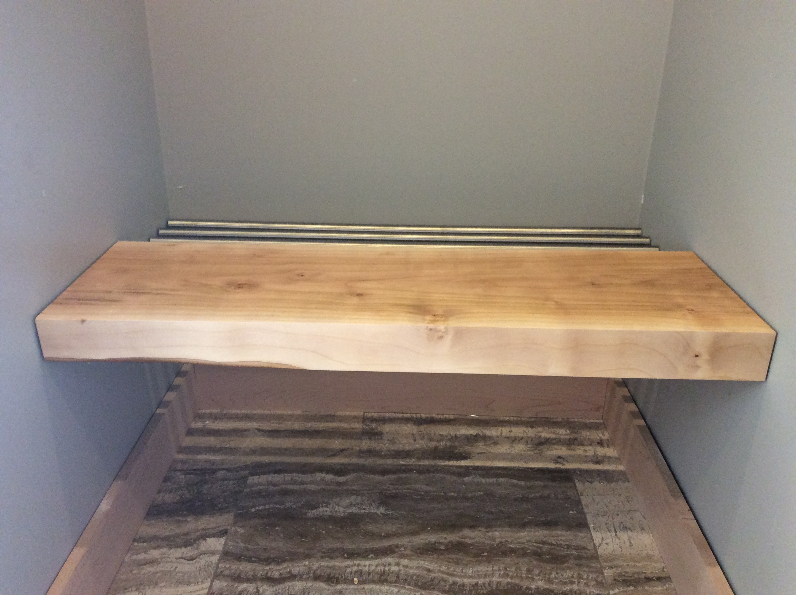 Cherry wood Hot tub Bench with Stainless racking