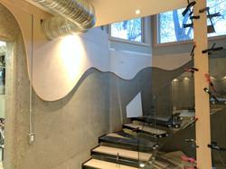 Basement concrete maple trim cover