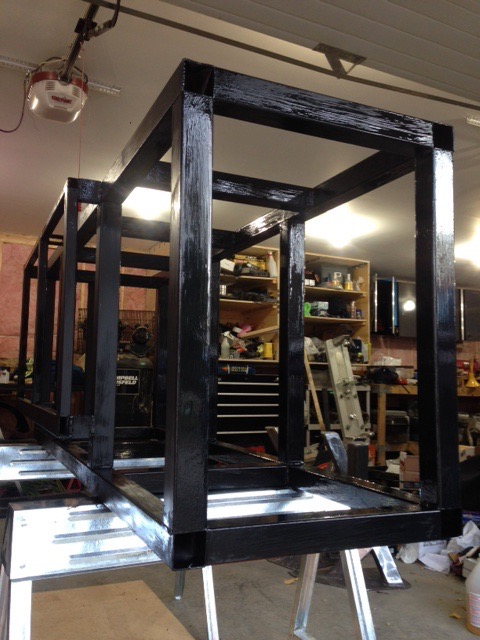 Custom fish tank stand for structural support