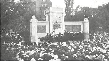 ワシントンDCのハーネマンの銅像完成時の記念式典 図.png