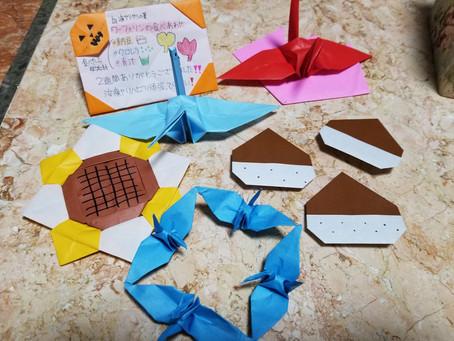 折り紙と看護学生