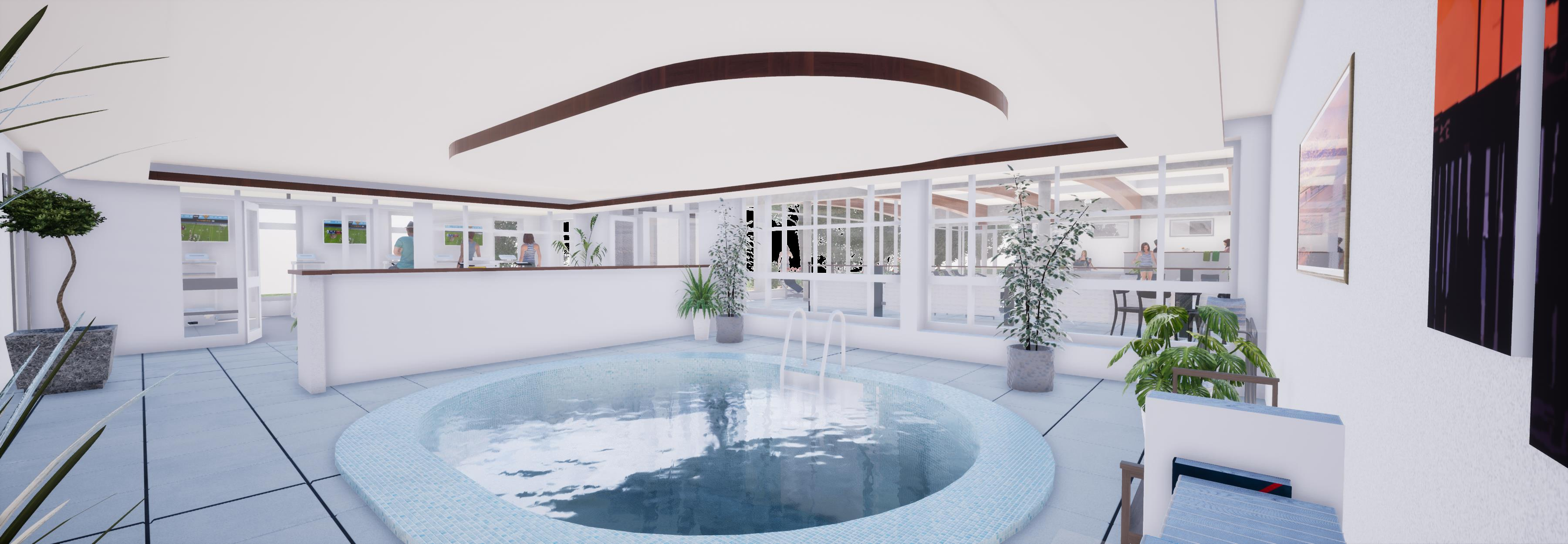 New Pool & Spa Facility Building