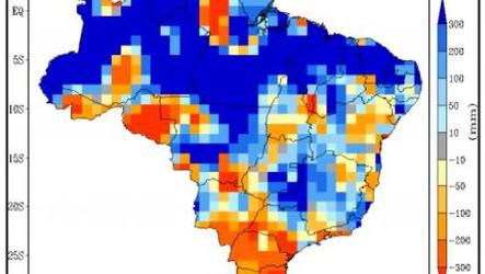 Inmet: Próximo trimestre com chuvas acima no centro-norte do BR e volumes abaixo da média no Sul