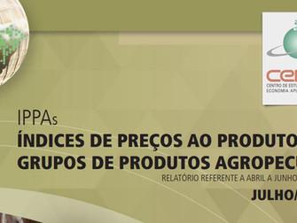 IPPA/CEPEA: Covid-19 gera efeito altista nos preços agropecuários e IPPA/Cepea sobe 14,2% no 1º seme