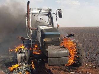 Produtor tem corpo queimado em incêndio em lavoura