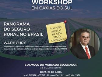 SindSeg-RS promove workshop sobre seguro rural