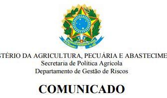 [Comunicado] Programa de Subvenção ao Prêmio do Seguro Rural (PSR) - 2017
