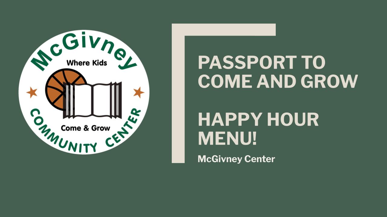 McGivney's Passport 2 Come & Grow Happy