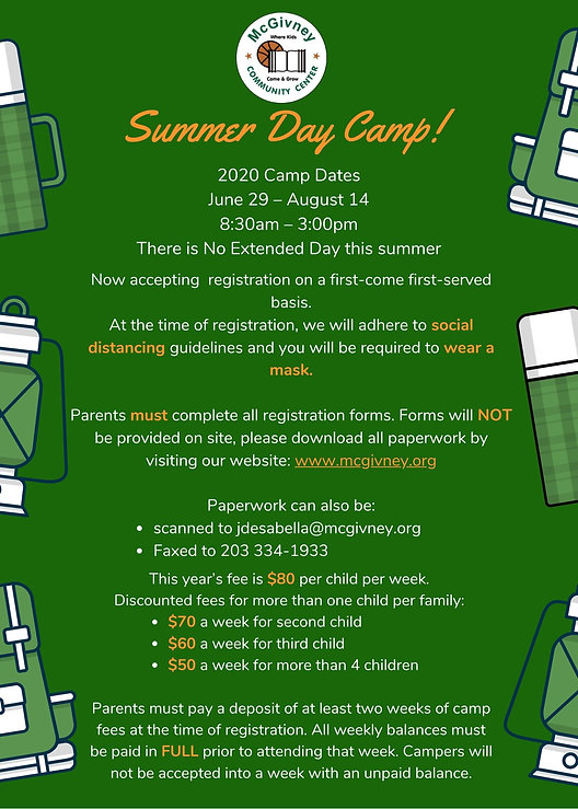 Teal and White Outdoor Summer Camp Flyer