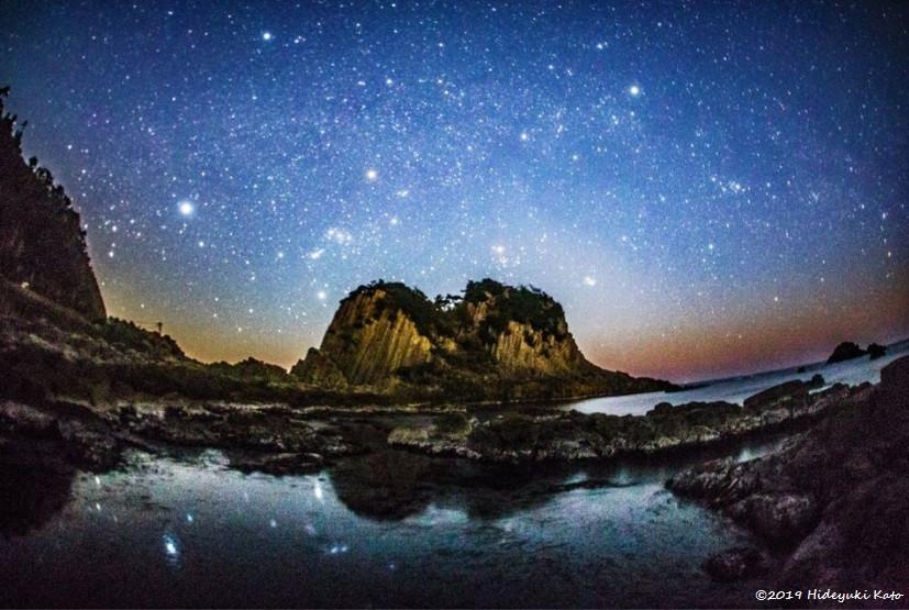 鉾島と星空