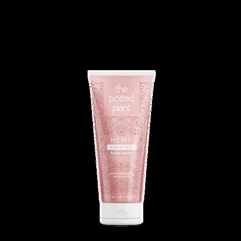Hemp Plums & Cream Body Wash 3.4oz