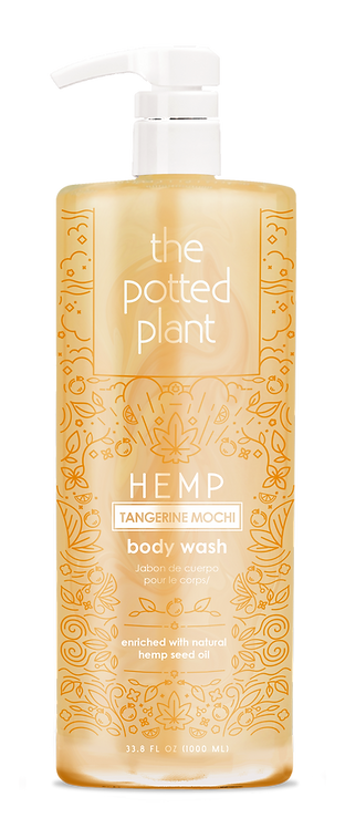 Hemp Tangerine Mochi Body Wash Liter