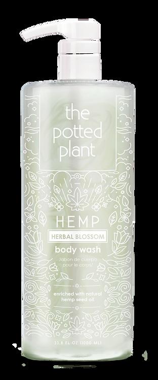Hemp Herbal Blossom Body Wash Liter