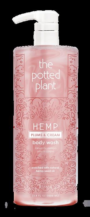 Hemp Plums & Cream Body Wash Liter