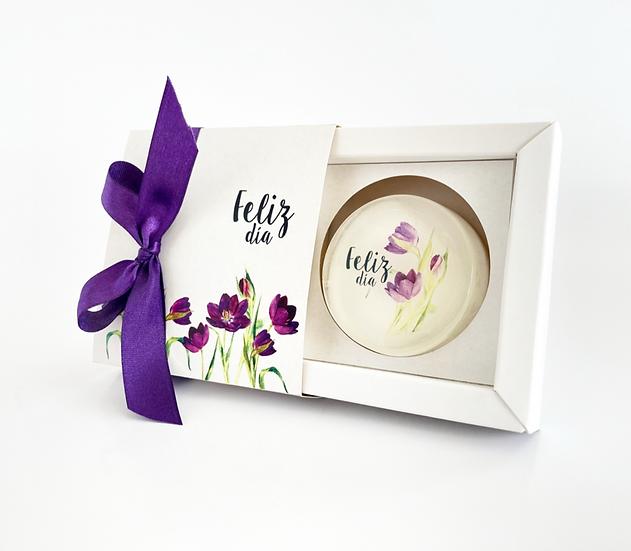 Caja de Regalo Tulipán Violeta,  jabón de 45 gr.