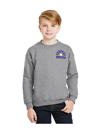 CREW NECK SWEATSHIRT-GREY-Horizon