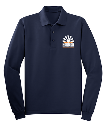 Long Sleeve-Navy- Polo