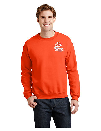 CREWNECK SWEATSHIRT-ORANGE-WhiteSmallSpirit