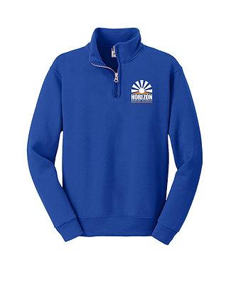 1/4-Zip Cadet Collar Sweatshirt-Royal-Horizon L